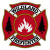 Wildland Firefighter Maltese Cross Reflective Decal