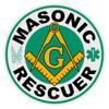 Round Masonic Rescuer Decal