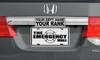 "4""x10"" Custom Half Tag Auto License Plate"