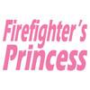 Firefighter's Princess Text Decal
