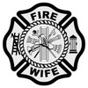 Fire Wife Maltese Cross Decal