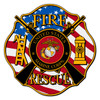Marine Fire Rescue Maltese Cross Decal