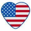 American Flag Heart Decal