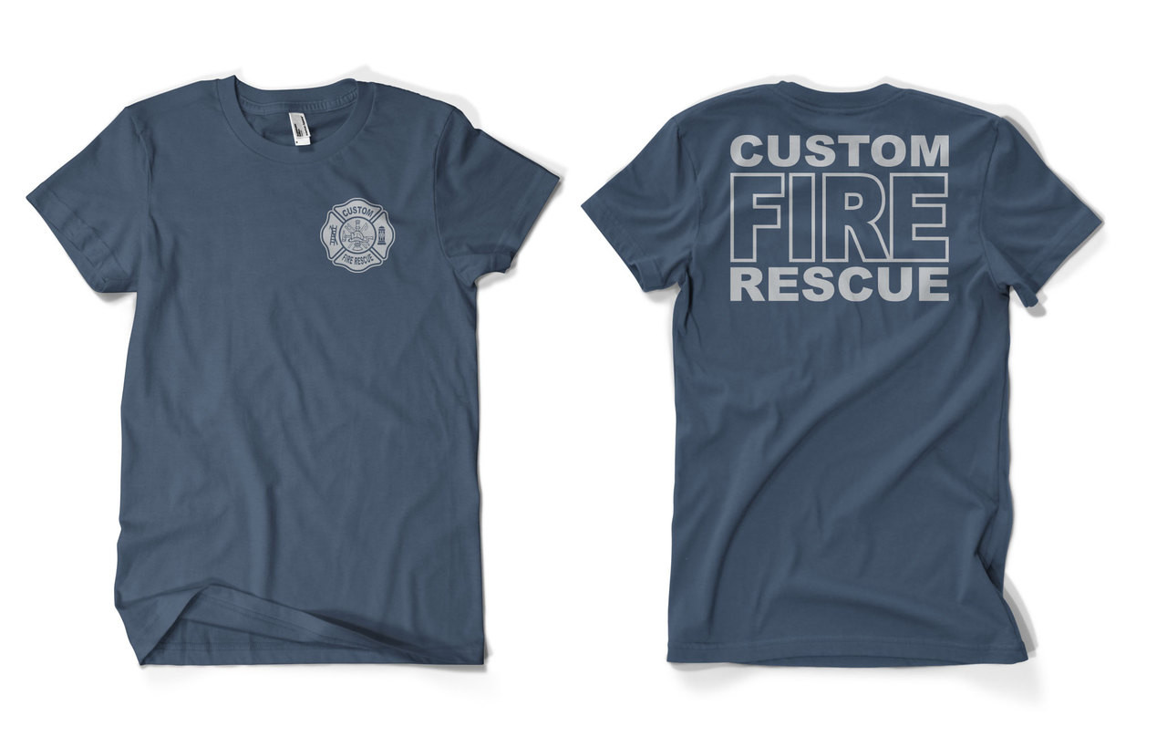 02d1caf5c Custom Fire Rescue Duty shirt
