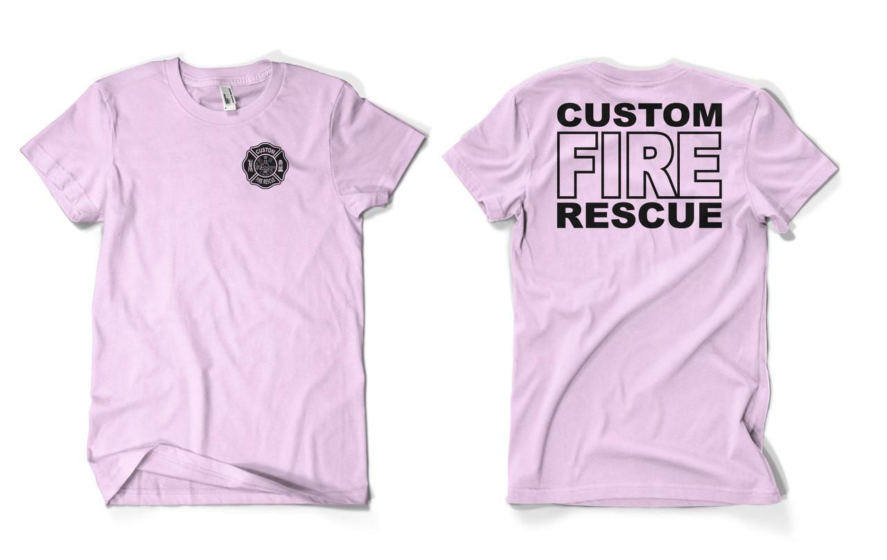 Custom Pink Fire Department Duty Shirt