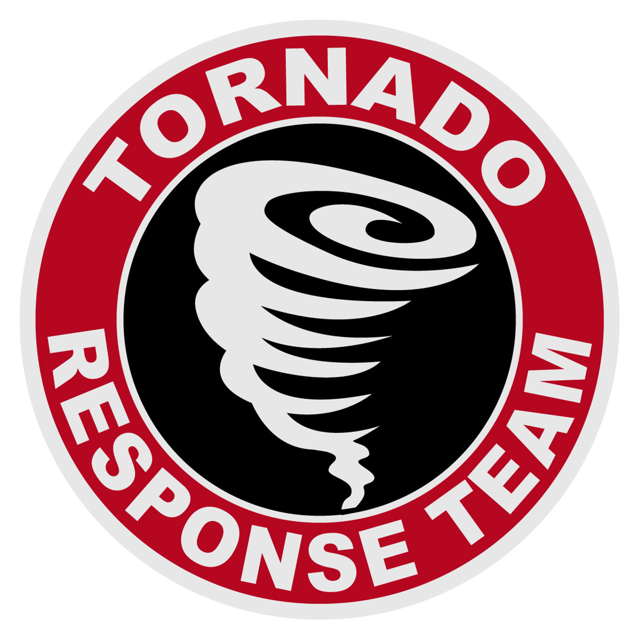 "Hurricane Response Team 4/"" Round Reflective Decal"