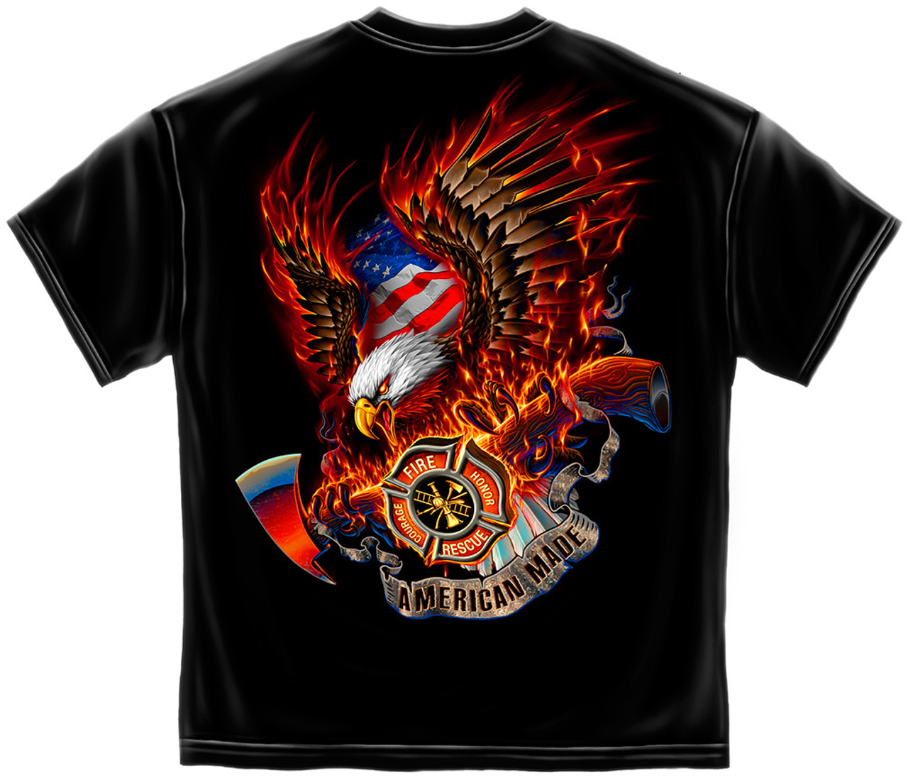 American Made Fire Rescue T Shirt Ff2062 The Emergency Mall
