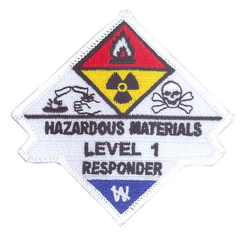 Hazardous Materials Level 1 Responder Patch