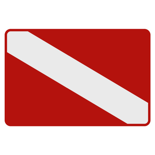 Dive Flag Decal
