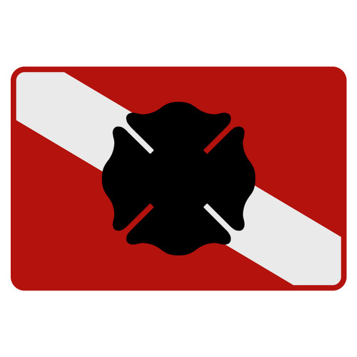 Dive Flag - Maltese Cross Decal