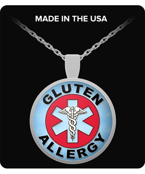 Gluten Allergy Medical Charm Necklace
