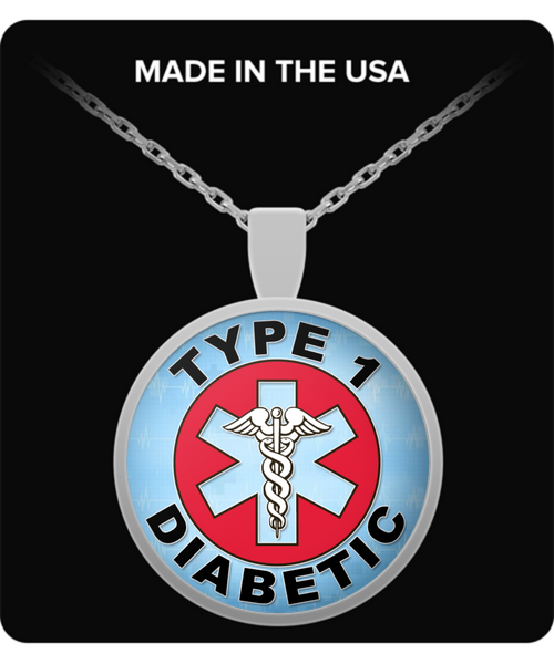 Type 1 Diabetic Medical Charm Necklace