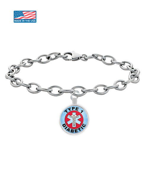 Type 1 Diabetic Medical Charm Bracelet
