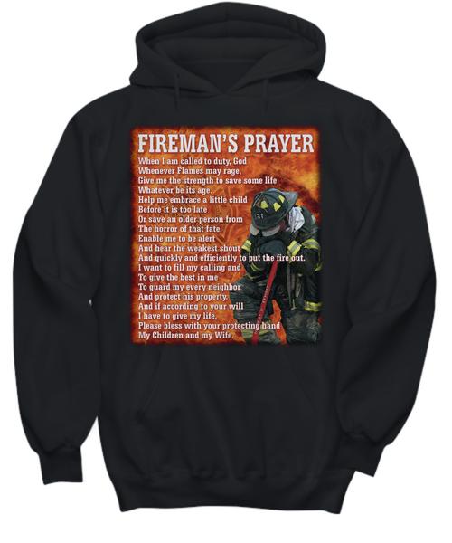 Fireman's Prayer Black Hoodie
