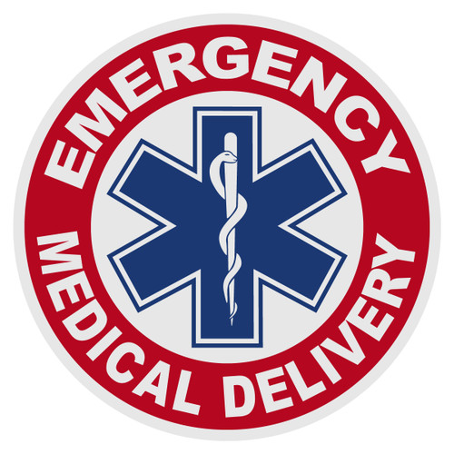 Round Emergency Medical Delivery Decal
