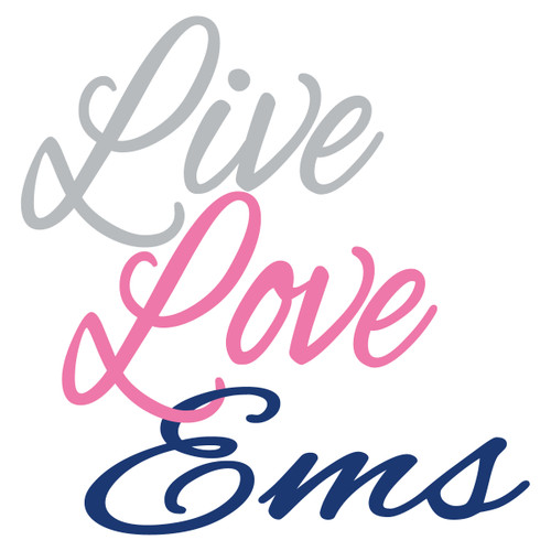 Live Love EMS Text Decal