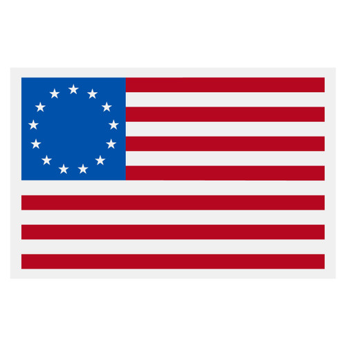 Betsy Ross American Flag Decal
