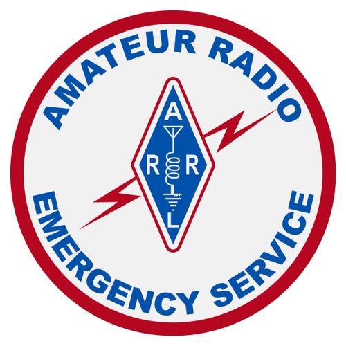 Round Amateur Radio Emergency Service Decal