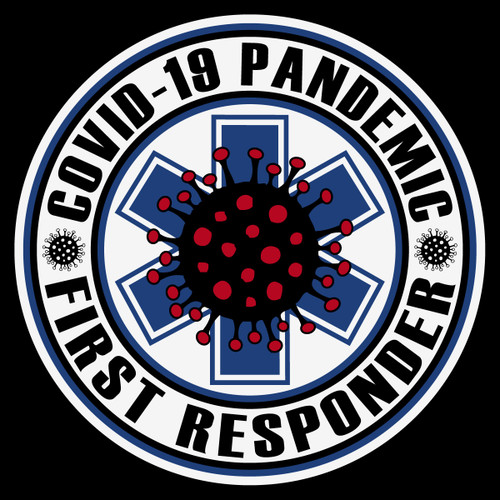 Round Covid-19 First Responder Decal