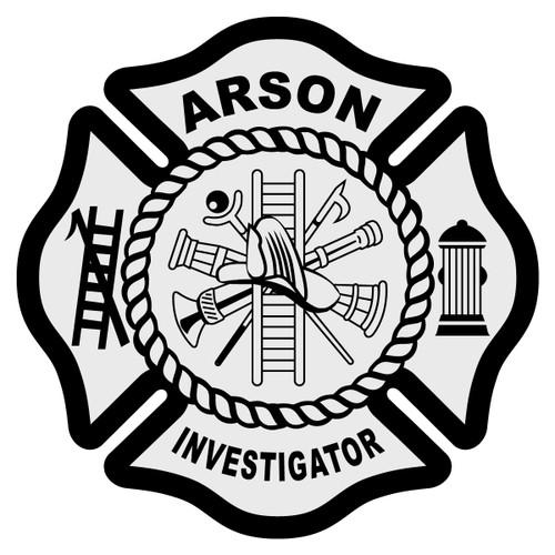 Arson Investigator Maltese Cross Decal