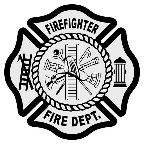 Firefighter Maltese Cross Decal