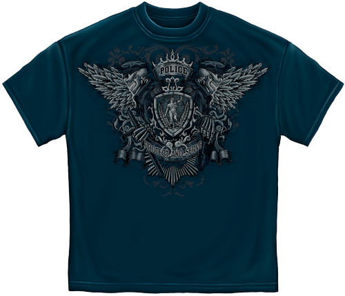 Police Protect & Serve T-Shirt (FF2119)