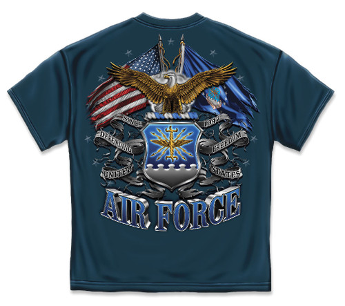 Air Force Double Flag Eagle T-Shirt (MM2150)
