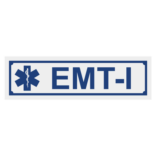 EMT-I with Star of Life Title Decal