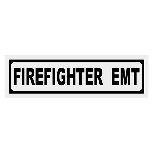 Firefighter EMT Title Decal