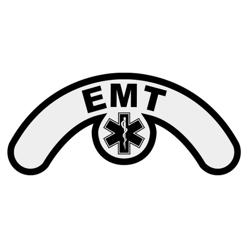 EMT with Star of Life Extended Helmet Crescent