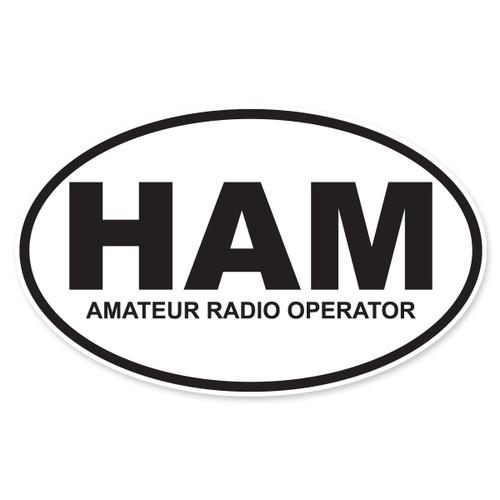 HAM (Amateur Radio Operator) Oval Decal