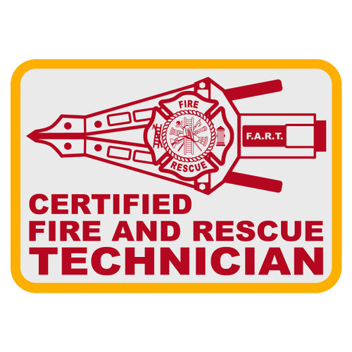 Certified Fire and Rescue Technician (FART) Decal