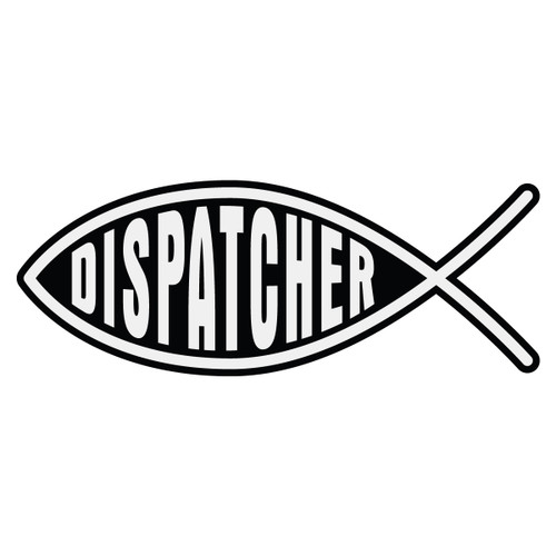Dispatcher Christian Fish Decal