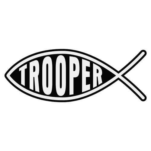 Trooper Christian Fish Decal
