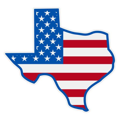 US Flag on Texas Outline Decal