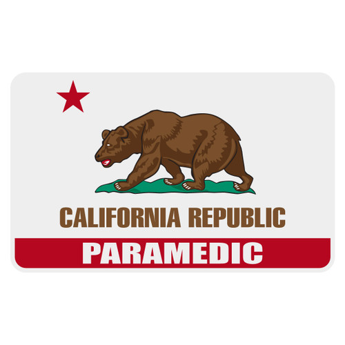 California Paramedic Flag Decal