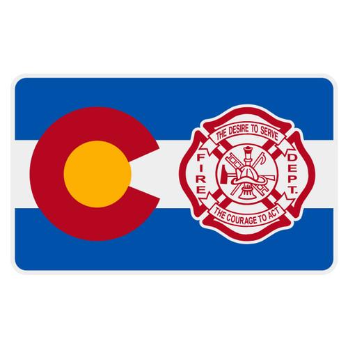 Colorado Flag with Maltese Cross Reflective Decal