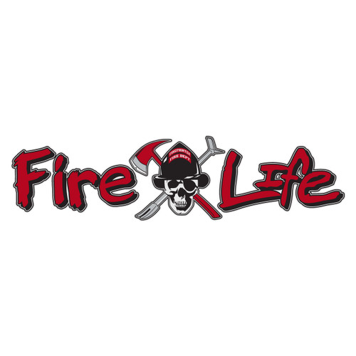 Fire Life with Skull Reflective Window Banner Decal