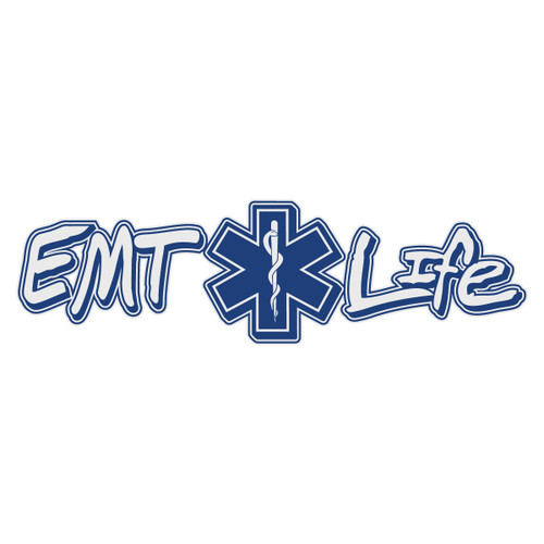 EMT Life with Star of Life Reflective Window Banner Decal