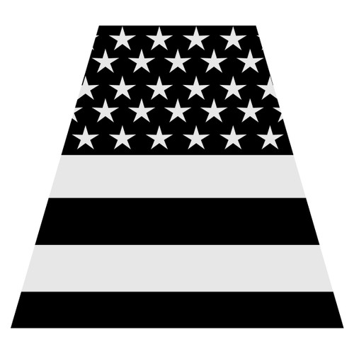 Black American Flag Helmet Tetra Decal