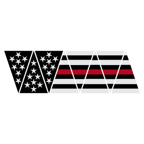Black American Flag with Redline 1010 Helmet Top