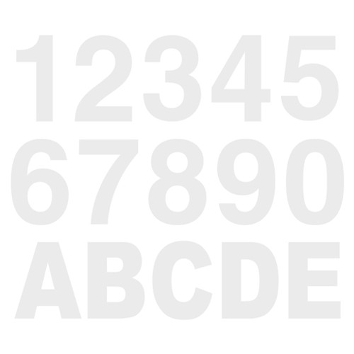 White Reflective Letters & Numbers