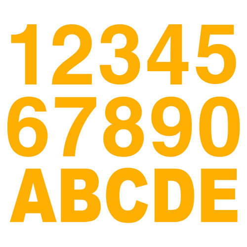 3M Yellow Reflective Letters & Numbers