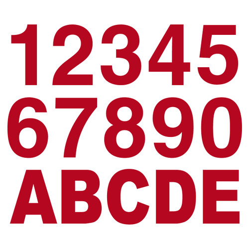 Red Reflective Letters & Numbers