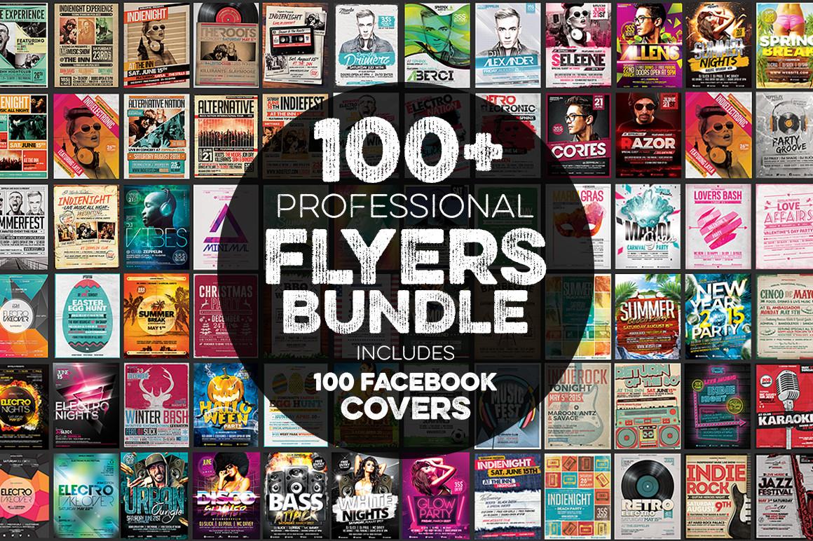 100+ Flyers Bundle + Covers