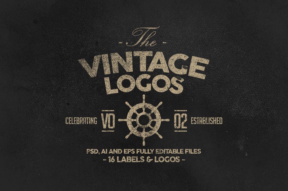 Retro Badges, Labels & Logos Vol.2