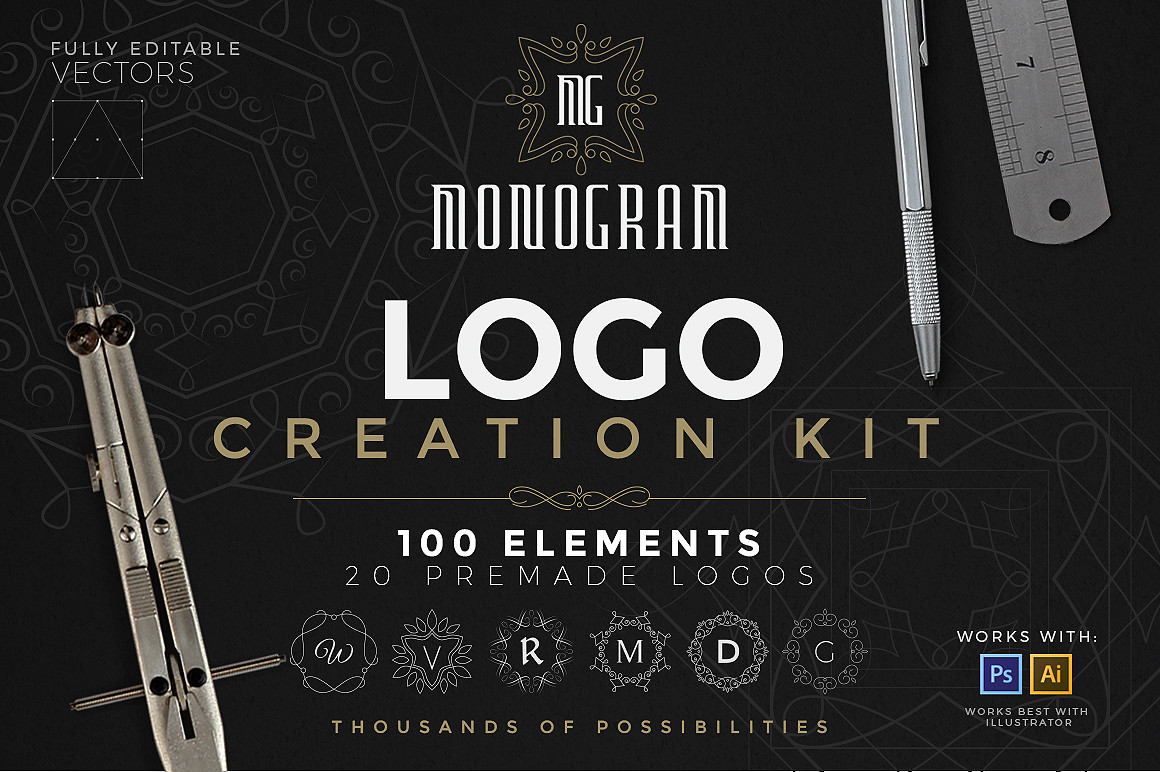 Logo Creation Kit - Monogram Edition