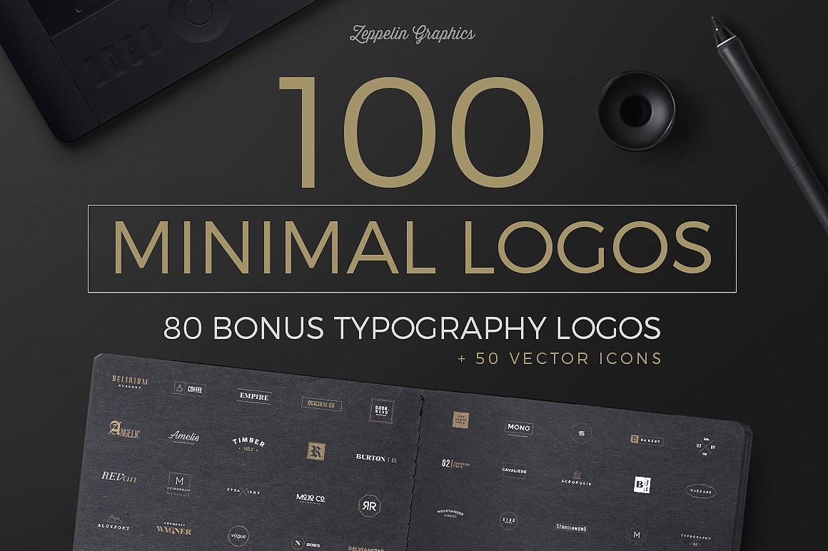 100 Minimal Logos + BONUS