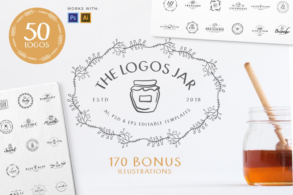 Jar of Logos - 50 Logo Templates