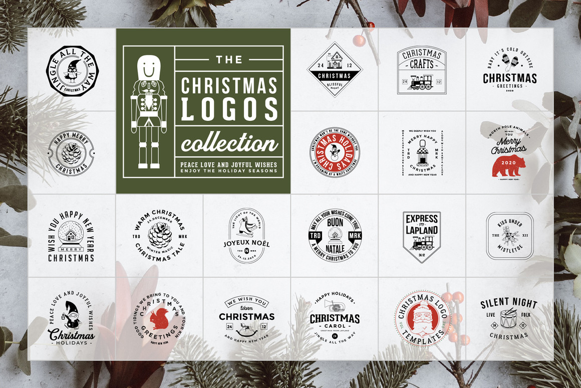 50 Retro Modern Christmas Logos